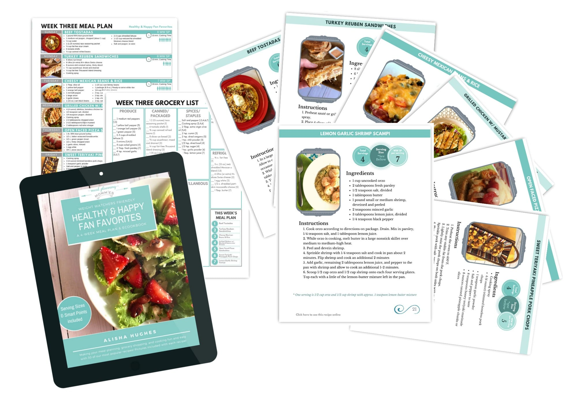 Healthy & Happy Fan Favorites eCookbok and Meal Planner