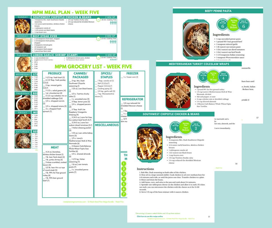 u201c12 week meal plan mega bundle u201d ebook and meal planner